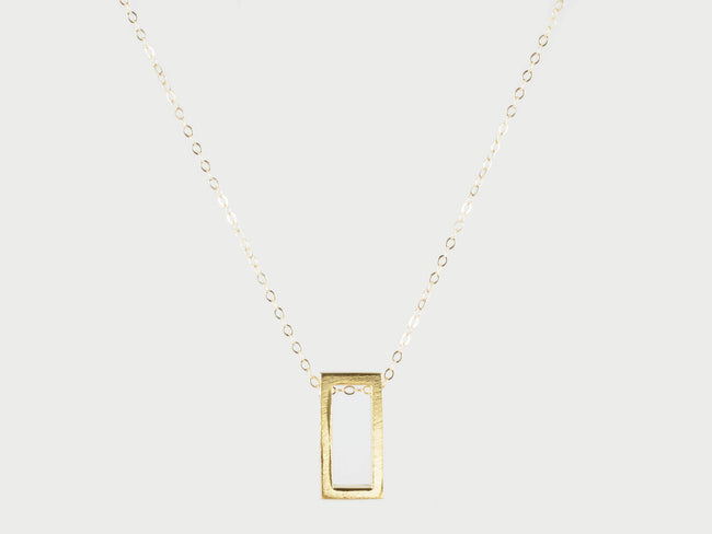 TSH Jewelry - Modern Rectangle Necklace - Gold