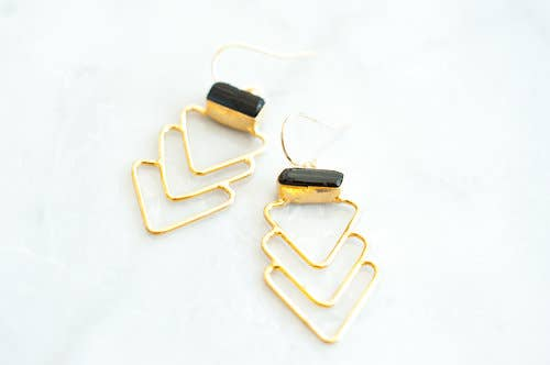 Leslie Francesca Designs - Zig Zag Gems Earrings
