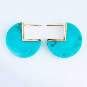 Leslie Francesca Designs - Turquoise Coin Earrings