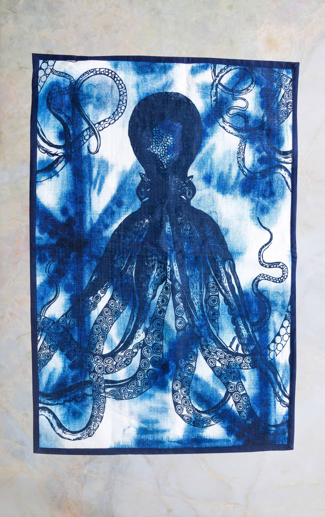 Shibori Octopus Tea Towel