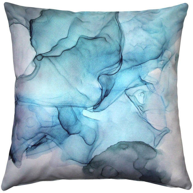 "Pillow Decor - 20"" x 20"" Karalina Khyber Haze Blue Throw Pillow"