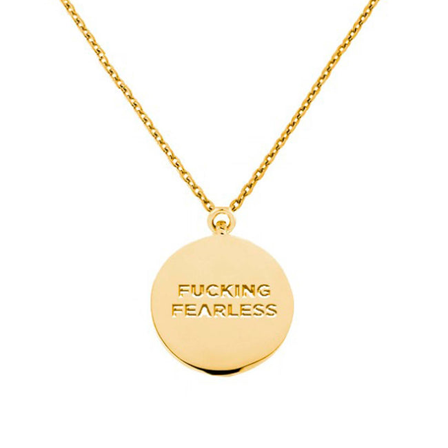 Twisted Wares - Fucking Fearless Gold Circle Necklace