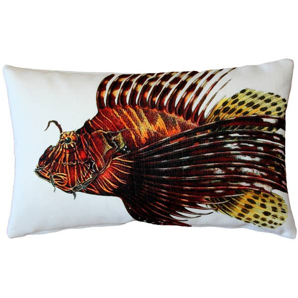 "Pillow Decor - 12"" x 19"" Lionfish Front and Back Pillow"
