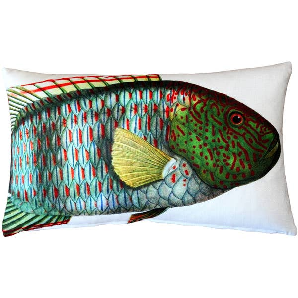 "Pillow Decor - 12"" x 19"" Maori Wrasse Front and Back Pillow"