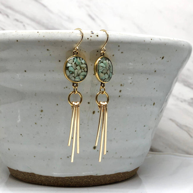 Hadas Kol Collection - Amazonite Ray Earrings
