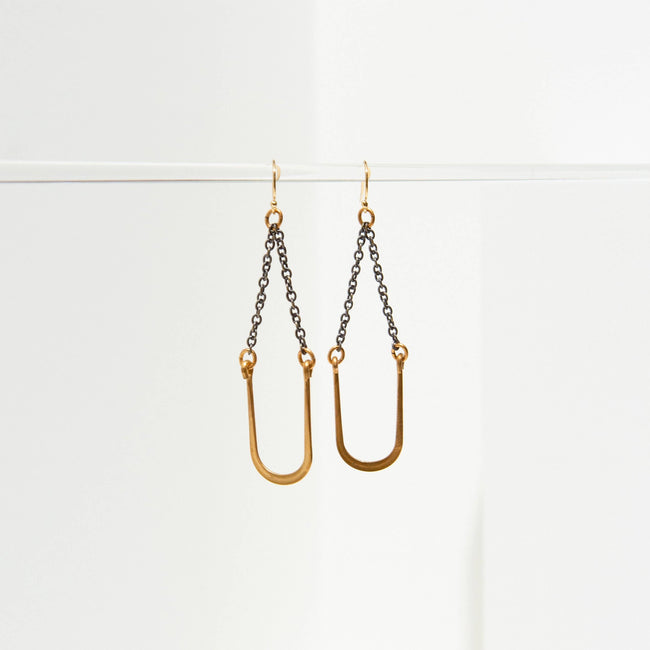 Larissa Loden Jewelry - Vintage U Swing Earrings