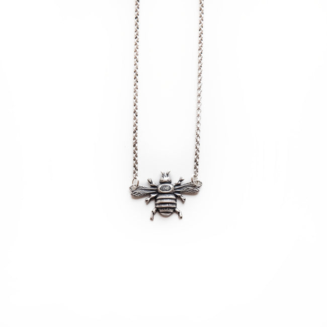 Larissa Loden Jewelry  - Mini Bee Necklace - Silver