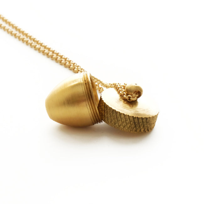 Larissa Loden Jewelry - Acorn Canister Necklace