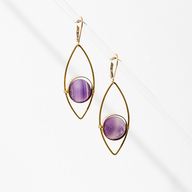 Tempest Earrings - Amethyst