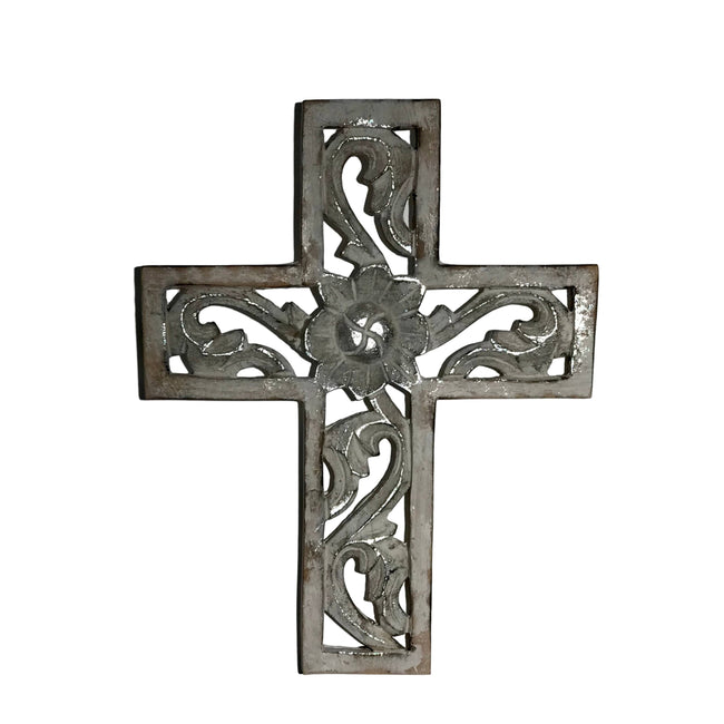 Hand-Carved Wood Gethsemane Wall Cross