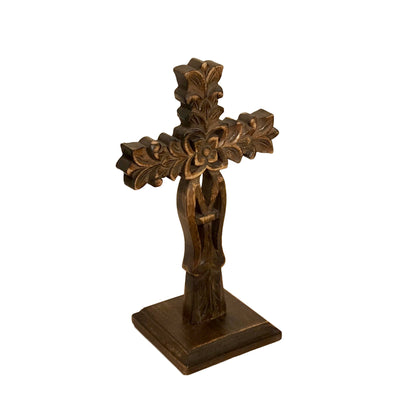 San Angelo Carved Wood Table Cross