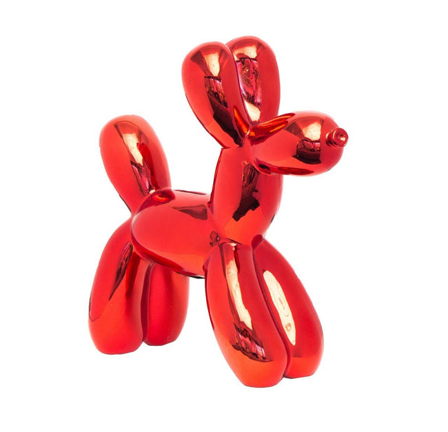 "Red Balloon Dog Bank - 12"" tall"