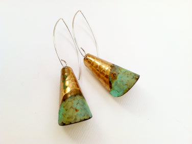 ssd jewelry - Rolled Brass With Green Verdigris