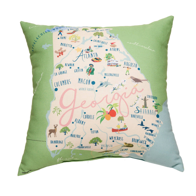Georgia Square Pillow