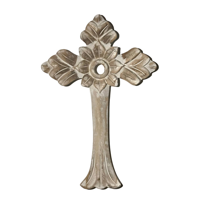 Hand-Carved Wood St.Patrick Wall Cross