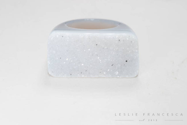Leslie Francesca Designs - Natural Druzy Solid Rock Ring