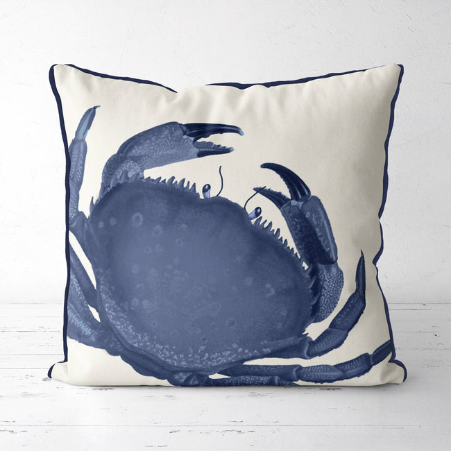 Blue Rock Crab, Nautical Pillow
