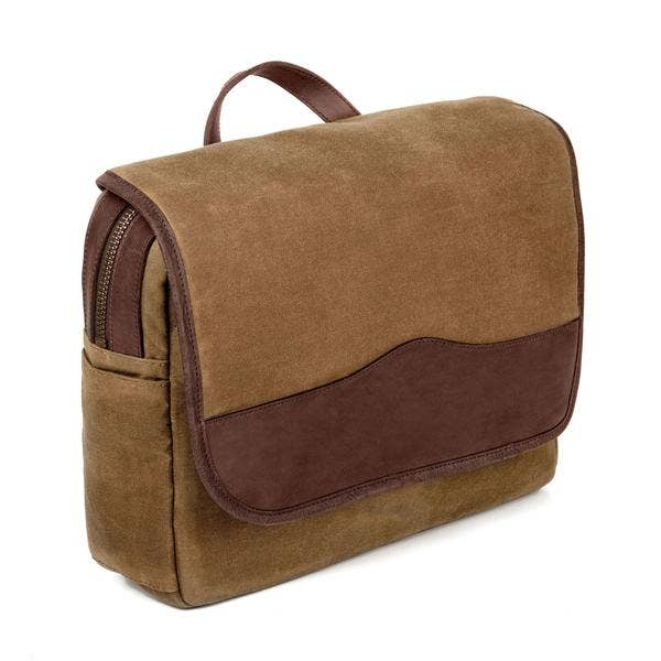 Campaign Waxed Canvas Messenger Bag