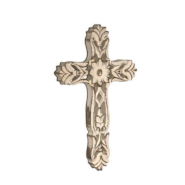 Friendship Carved Wood Wall Cross
