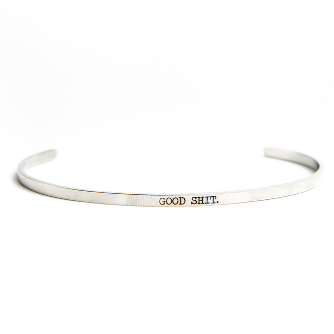 Twisted Wares - Good Shit Stainless Steel Delicate Bangle