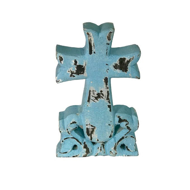 Parish Carved Wood Tabletop Cross