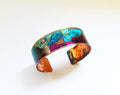 "ssd jewelry - .75"" Width Purple and Mix Verdigris Patina Cuff"