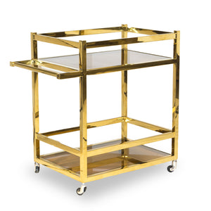 Bohemian Table Cart Gold-Plated