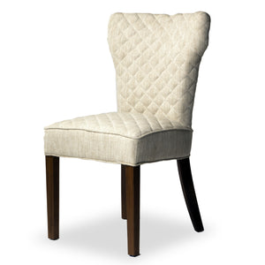 Hambo Side Chair with hardware Heavy Blend Linen Natural Color