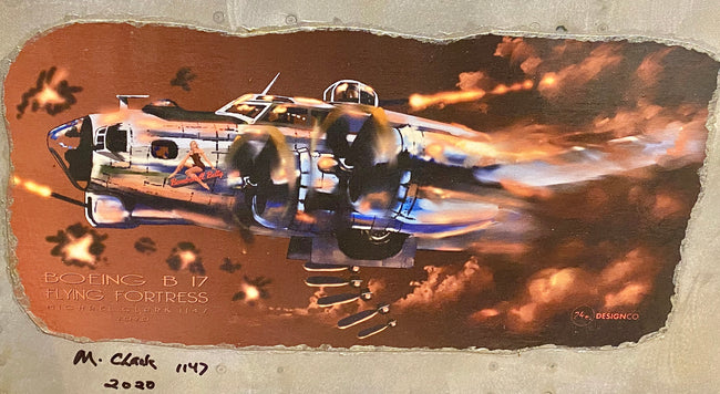 Michael Clark Boeing B 17 Flying Fortress Wall Art
