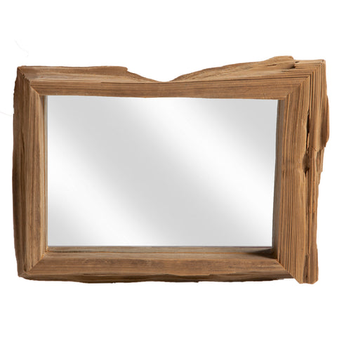 Driftwood Square Mirror