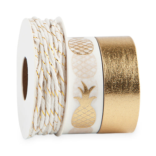 TRUE - Pineapple Crush Washi Tape & Twine