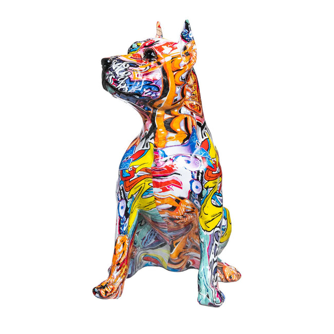 "Pitbull Street Art Dog - 16"" tall"