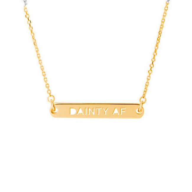 Twisted Wares - Dainty AF Gold Dainty Necklace