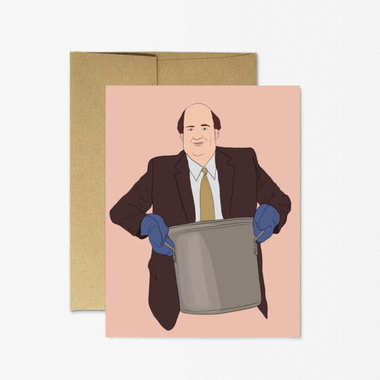 Party Mountain Paper co. - The Office Kevin Chili Card