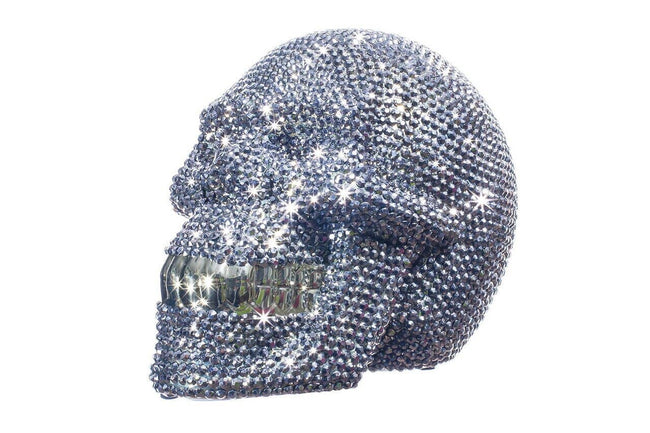 "Rhinestone Skull Bank - 8"" long"