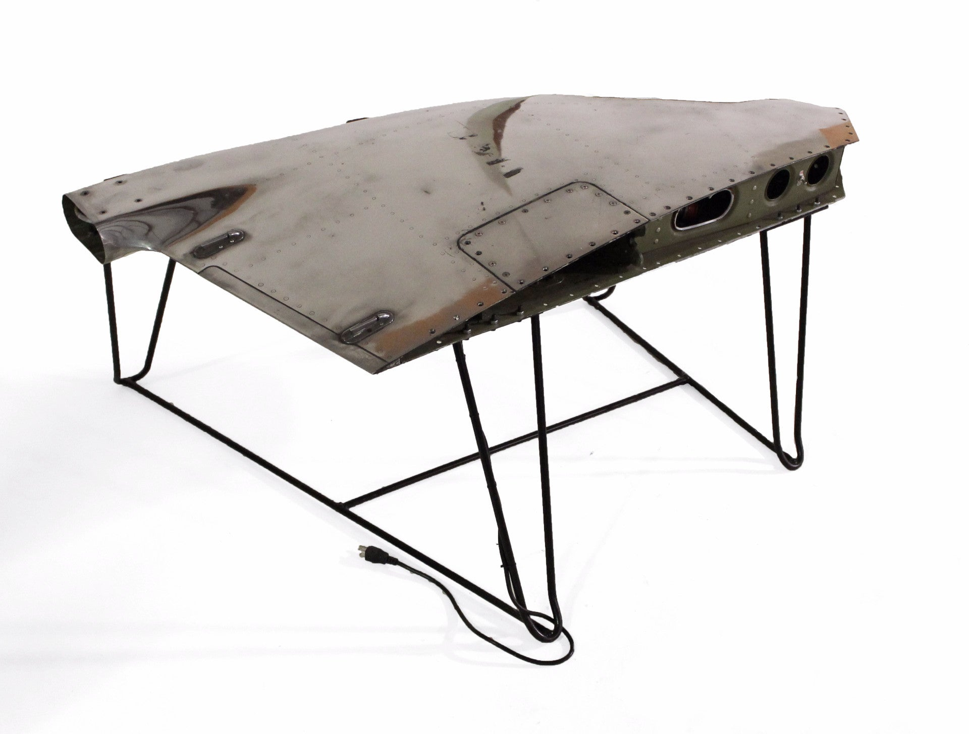 Chrome Airplane Wing Tip Coffee Table 24e Design Co