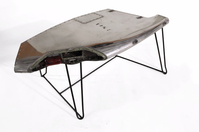 Chrome Airplane Wing Tip Coffee Table
