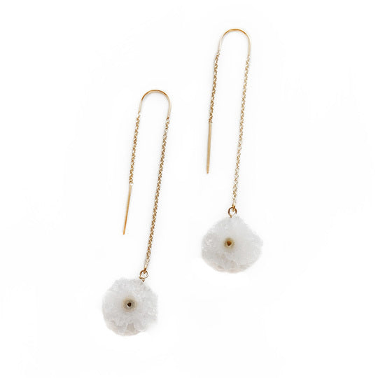 Larissa Loden Jewelry - Drusy Threader Earrings