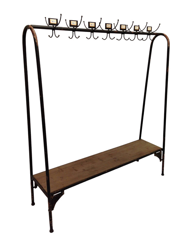 Coat Rack- Distressed Black