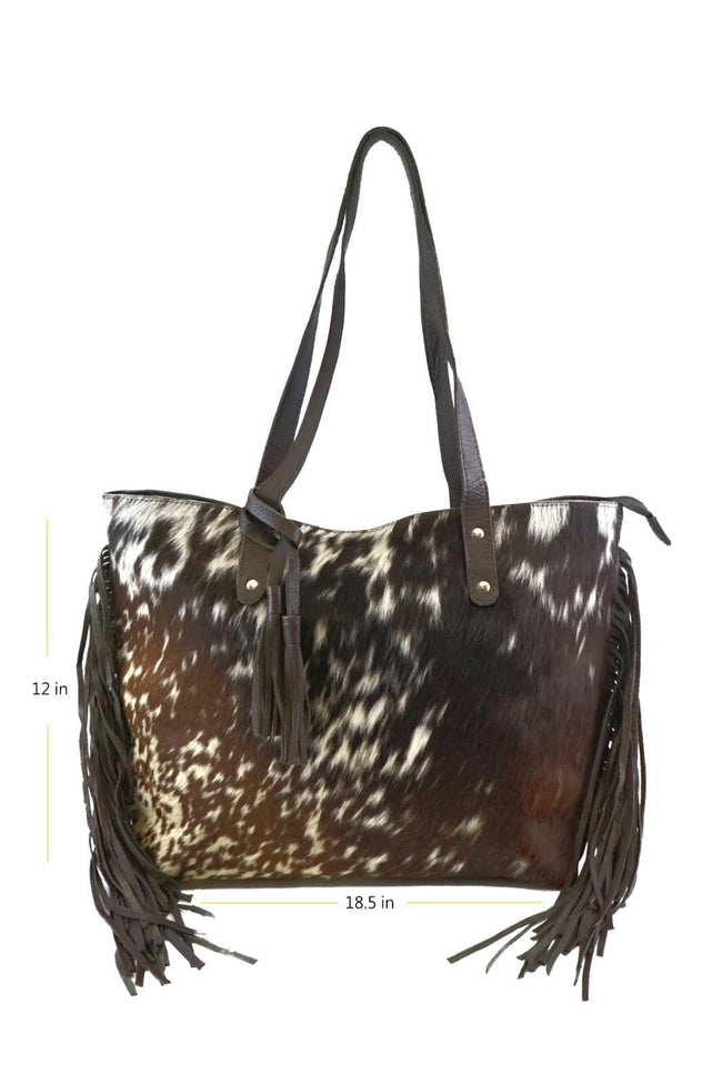 Women cowhide bag - Black
