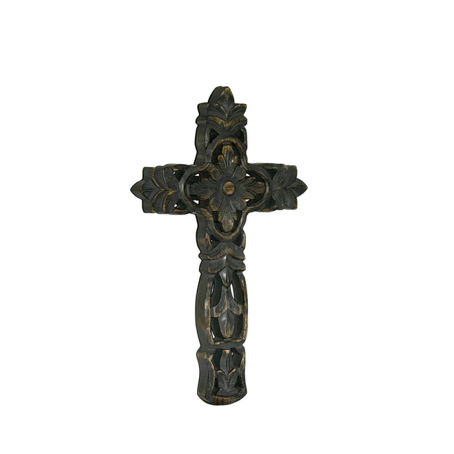San Miguel Hand Carved Wood Wall Cross