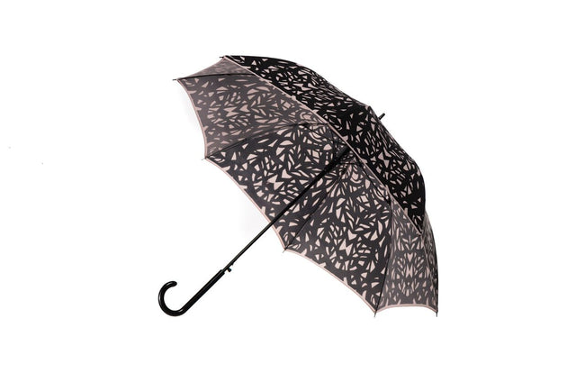 The San Francisco Umbrella Company - Butterfly Wing Long Stick Umbrella - Taupe