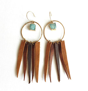 ssd jewelry - Blue Moon BROWN Leather Fringe