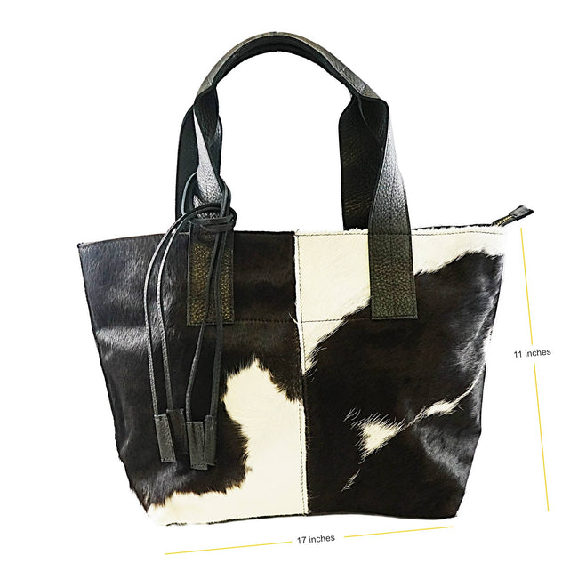 Women cowhide bag -Brown