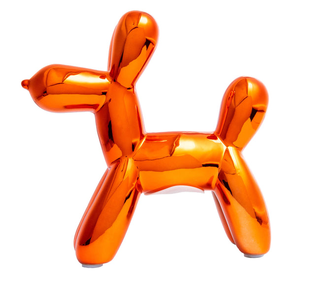 "Copper Mini Balloon Dog Bank 7.5"" tall"