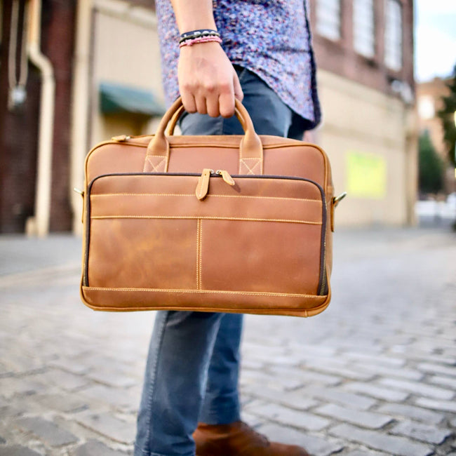 The Bailor Business Bag - Light Brown