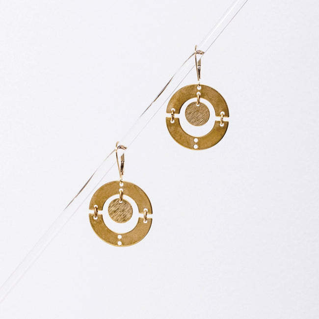 Puer Earrings - Brass