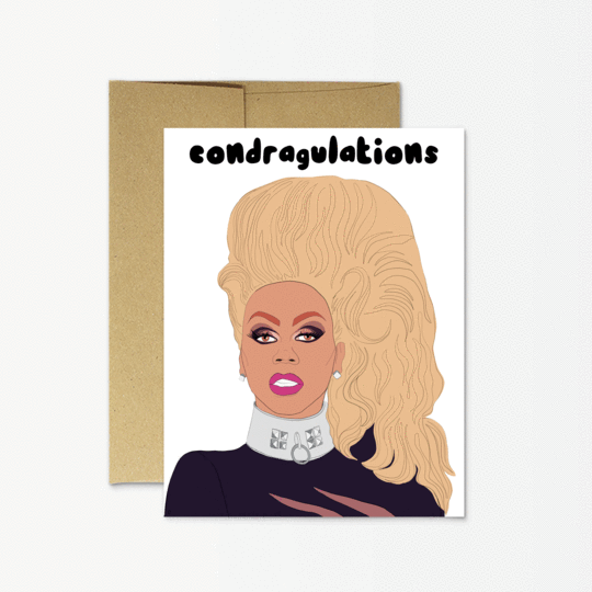 Party Mountain Paper co. - Rupaul Condragulations Card