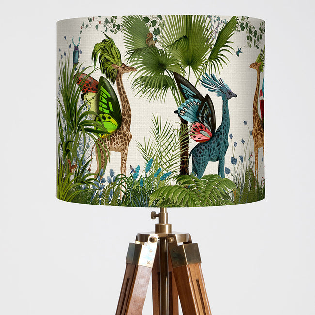 "FabFunky Ltd - 12"" x 11"" Tropical Bright Giraffes Lamp Shade"