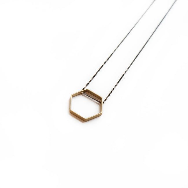 Larissa Loden Jewelry  - Horizon Hexagon Necklace
